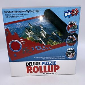 """NIB Deluxe Puzzle Roll-Up Puzzling Made EZ 39"""" X 23""""  Holds Up To 1500 Sealed"""