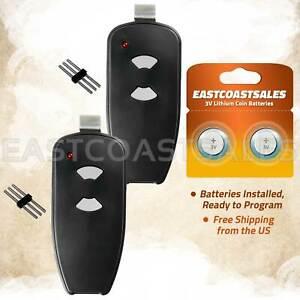 2 For Marantec M3-2312 315 MHz Two Button Remote Garage Door Opener Program Pin