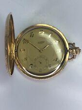 Exquisite Vintage Gold Tone Tissot Hand Winding Pocket Watch