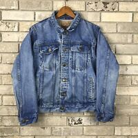 Anzani Denim Vintage Jean Jacket Medium Acid Wash Medium 90's Frosted Blue Vtg