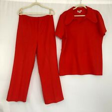Vintage Montgomery Ward 2 piece Red Outfit Women's Size X-Large