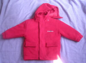 FROSTBITE Child's Fleecey Padded Jacket in Bright Red - Size 2-3 Years