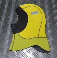 Genuine British Military Divers Neoprene Hood Reversible Black Fluorescent XL