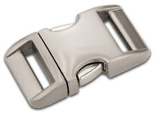 50 - 5/8 Inch Satin Aluminum Side Release Buckles