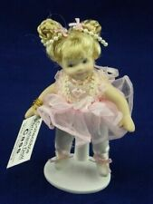 """Show Stoppers 5"""" Cass Ballerina Porcelain Collectible Doll Ornament A137 Pink"""