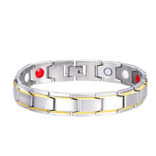 Men Women 316L Titanium Steel Therapy Energy Magnetic Bracelet Health Care Gift