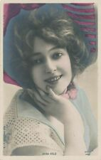 Hand Colored Real Photo Reutlinger Postcard of Anna Held - udb (pre 1908)