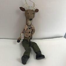Gallery Ii Hand Molded Sitting Deer Figurine Display Decoration Christmas Nwt