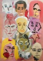 """Faces: oil painting on canvas panel (19"""" x 27"""")"""