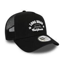 NEW ERA LONG BEACH BASEBALL CAP.DESTINATION A FRAME ADJUSTABLE TRUCKER HAT 9S2 3