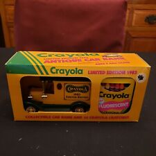 NOS 1993 Crayola 1903 Car Bank Limited Edition Die Cast W/Crayons Toy Truck