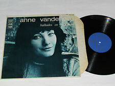 ANNE VANDERLOVE Ballades en Novembre LP 1968 Pathe Records Canada Stereo Vinyl