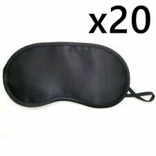 20x  Black Travel Sleeping Rest Relax Eye Mask Masks Eyemask Blindfold Patch