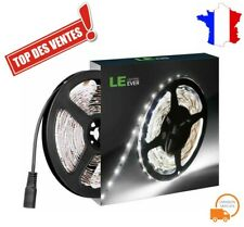 Ruban Bande 300 LED Lumineuse 12V 18W Blanc Autocollant Adhesif Flexible 5M A+
