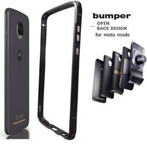 Dngn Moto Z4 Case Bumper,Compatible Moto Mods Luxury [Aluminum Metal Frame Cover