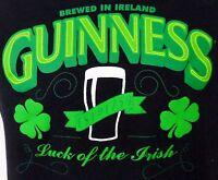 Mens Authentic GUINNESS IRELAND LUCK OF THE IRISH T-shirt Black M EUC