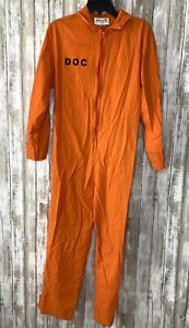 Charades Inmate Department of Corrections Prisoner JUMPSUIT Costume Adult/ Teen