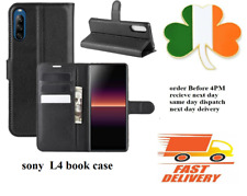 Sony experia L4 new Leather TPU book case cover black  screen cover pouch wallet