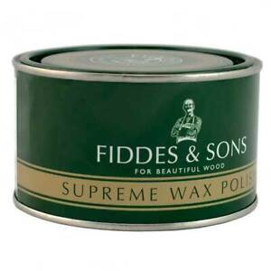 Fiddes Supreme Wax Polish Wood Furniture Woodwork Protection 400ml - All Shades