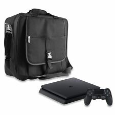 BLACK PREMIUM CONSOLE TRAVEL CARRYING CASE IN CAR BAG COVER FOR SONY PS4 SLIM