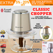 Russell Hobbs Electric Food Chopper Slicer Dicer Processor with GLASS BOWL NEW