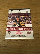Sidney Crosby Penguins 2017-2018 Upper Deck Tim Hortons Game Day Action #GDA-1
