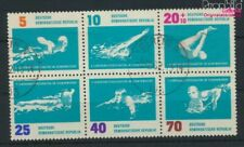 DDR 907-912 Six block (complete issue) Bedarfsstempel fine used / canc (9579283