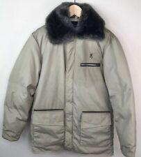 BROWNING Goose Down Hunting Jacket Coat Fur Collar Mens Jacket Size 36 Small