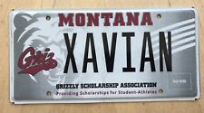 "MONTANA COLORFUL GRAPHIC  VANITY LICENSE PLATE "" XAVIAN ""  GRIZZLY BEAR BEARS"