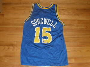 LATRELL SPREWELL Golden State Warriors Replica Champions Jersey Size 44