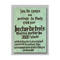 Jeu de 54 Cartes au Portrait de Paris HECTOR de TROIS Cartes à jouer Grimaud