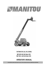 MANITOU MLT 845 MLT 940 OPERATOR MANUAL REPRINTED COMB BOUND 2008
