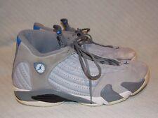 Nike Air Jordan 14 Retro Wolf Grey/Sport Blue-Cool Grey-White 487471-004 size 14