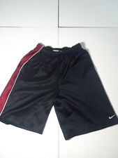 Nike WOMEN'S/YOUTH Sz M 10-12 ATHLETIC BLACK with RED/White Strpe SHORTS