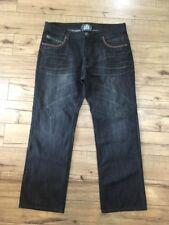 Mens Kanji black studded Kanji collection Jeans sz 38 X 32