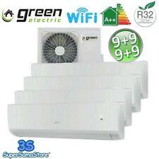 3S CLIMATIZZATORE QUADRI 4 SPLIT 9+9+9+9 GREEN ELECTRIC WIFI INVERTER  A++ / A+