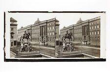 Statue de l'Electeur Berlin Allemagne Plaque stéréo Lachenal et Favre Vintage