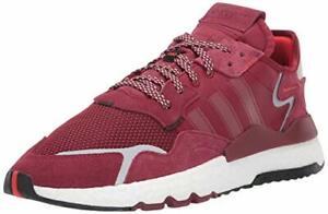 Adidas Originals Men's Nite Jogger Sneaker, Collegiate Burgundy / White