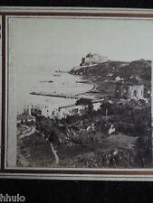 STA316 Napoli Italie Naples Giogio Summer vintage Photo 1900 STEREOview