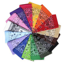 Bandana Face Mask Cover Head Wrap Scarf 100% Cotton Paisley
