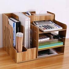 Desk Organizer Pencil And Pen Holder Office Desk Supplies File Holder Wooden