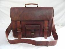 Women Genuine Vintage Brown Leather Messenger Bag Shoulder Laptop Bag Briefcase