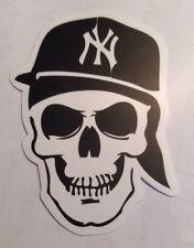 Pegatina/sticker/Autocollant/ Adesivo/ Aufkleber/ Etiket : Skull Rap NY