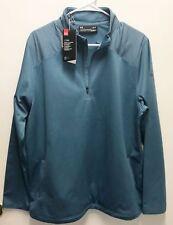 Under Armour UA Golf Outerwear Pullover Half Zip Blue Cold Gear Longsleeve L