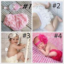 Baby Cotton Ruffle Bloomers Baby Diaper Cover Newborn Flower Shorts Toddler Sati