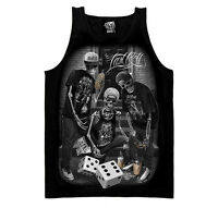 DGA David Gonzales Art Last Roll Skeleton Skull Tattoo Mens Tank Top Shirt M-3XL