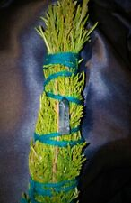 "Spring Juniper Cedar Smudge, Luminescent Blue Quartz Crystal, Blessed, 7"" Reiki!"