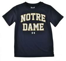 Under Armour Boys S/S Navy Blue Notre Dame Top Size 5