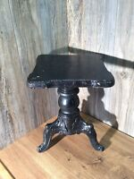 Antique Cast Iron 3 Legged Wood Base Piano Stool Adjustable Height K5