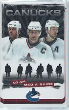 2003-04 Vancouver Canucks NHL Hockey Media Guide Yearbook Record Book